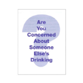 UK27 Are You Concerned About Someone Elses Drinking? (Pack of 50)